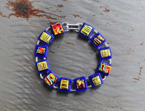 Fused Glass Bracelet