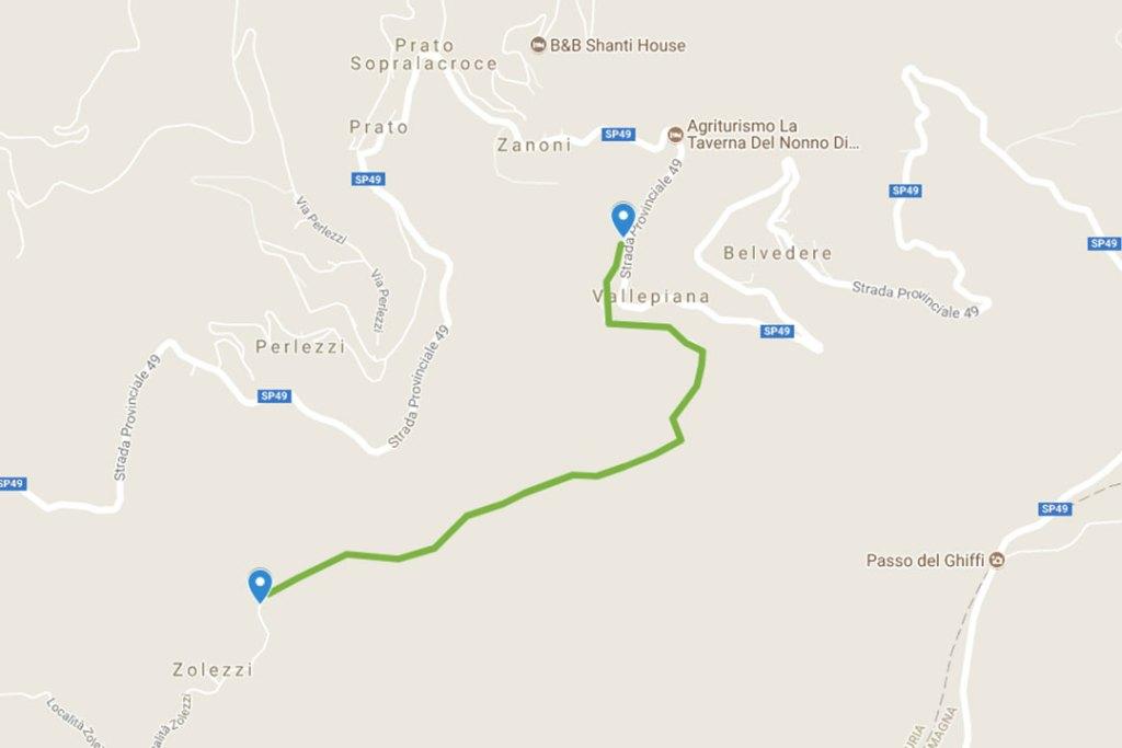 Sentiero San Martino di Liciorno