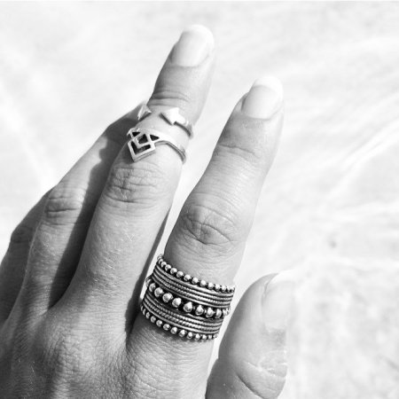 Aloha Gaia TARA & Strong Midi Ring with Warrior Princess ring Lovelings