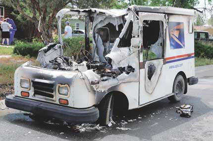 Hot mail? Fire consumes postal delivery truck | The Lovell ...