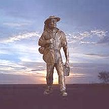bronze swagman
