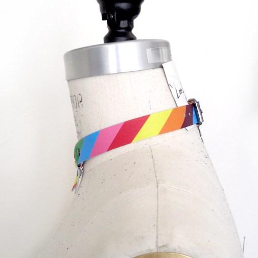 rainbow leather collar, pride lgbtq fashion, lovelornlingerie