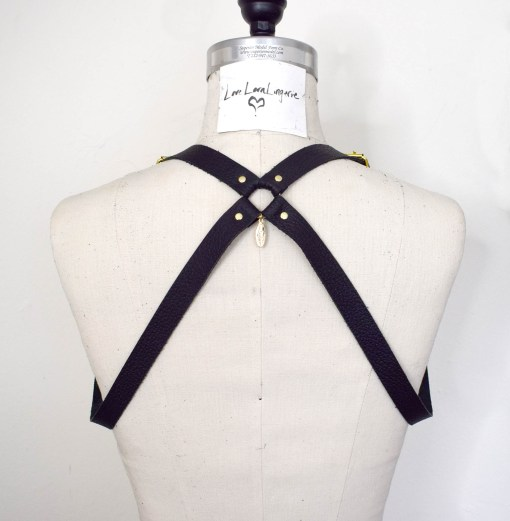 Leather chest harness, love lorn lingerie