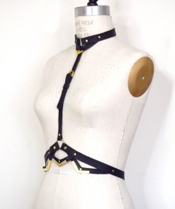 leather harness body belt, lovelornlingerie