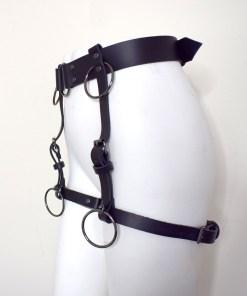 simple leather leg harness, lovelornlingerie