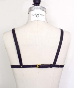 Ring Leather Harness Bra, love lorn lingerie