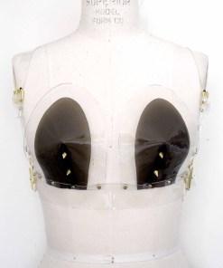 pvc vinyl sweetheart bra, love lorn lingerie