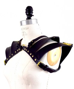 leather shoulder pauldron harness