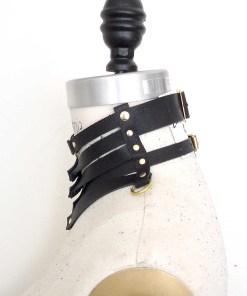 gorget leather collar, lovelornlingerie