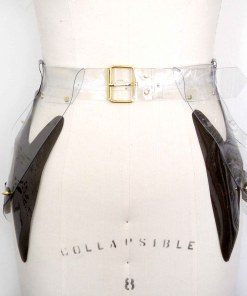 pvc long peplum belt, lovelornlingerie