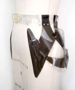 pvc long peplum belt, lovelornlingerie