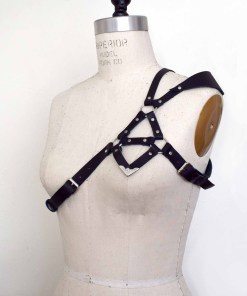 Asymmetrical Strappy Shoulder Harness