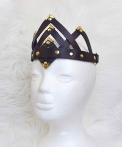 black leather crown