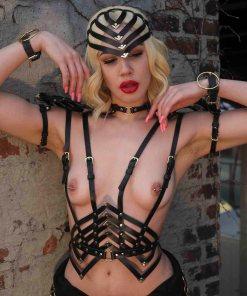 strappy black harness