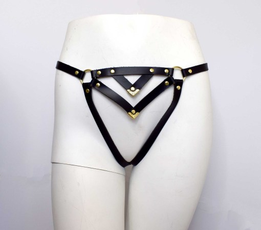 Leather Cage Panty