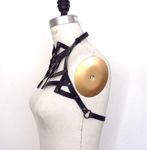 high neck shoulder harness