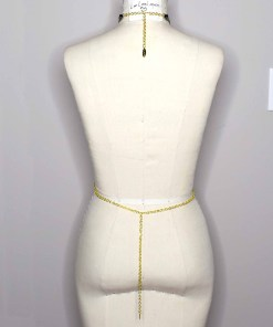 tiny leather chain body belt harness