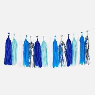MY LITTLE DAY - Guirlande tassel bleue