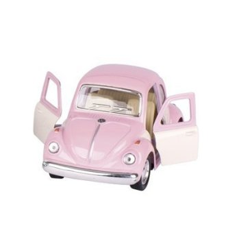 Mini voiture coccinelle rose pastel