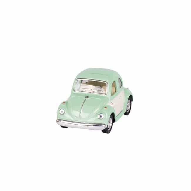 Mini voiture coccinelle verte pastel Goki imitation Volkswagen