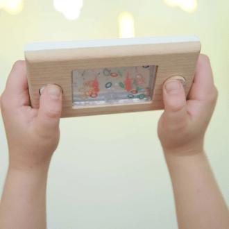 Console en bois, jeu d'adresse Kiko+ de kukkia.