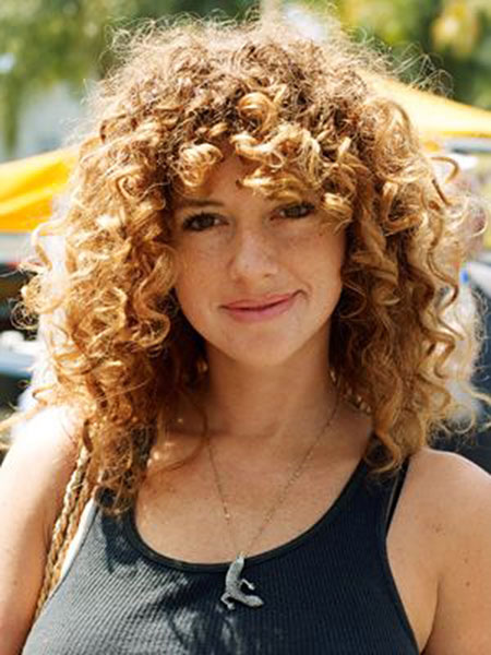 20 Nice Curly Hair With Bangs Hairstyles Amp Haircuts