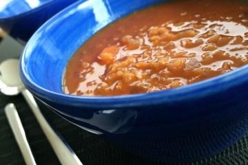 Kokos Karotten Linsen Suppe