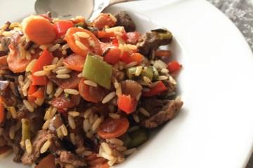 Rindfleisch Reis Pfanne