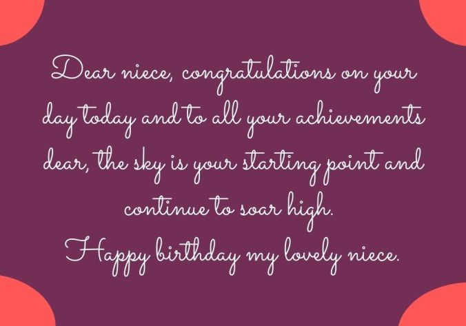 Happy Birthday Niece free image