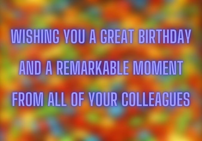 Birthday Wishes For Colleague free image
