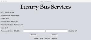 Passenger Details Window