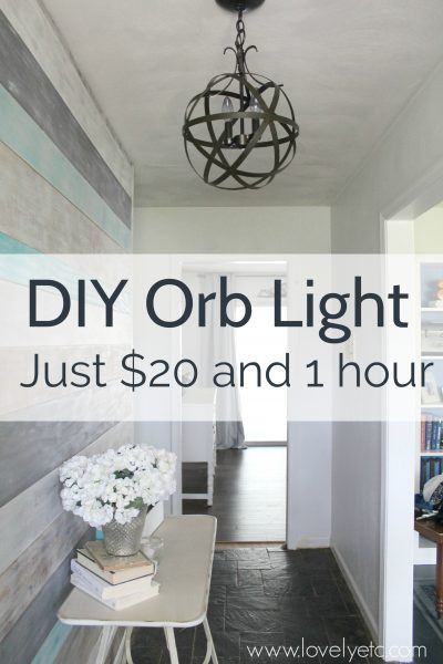 Make A Diy Orb Light Fixture This Chandelier Is Easy And Inexpensive To