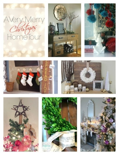 Friday christmas home tour collage