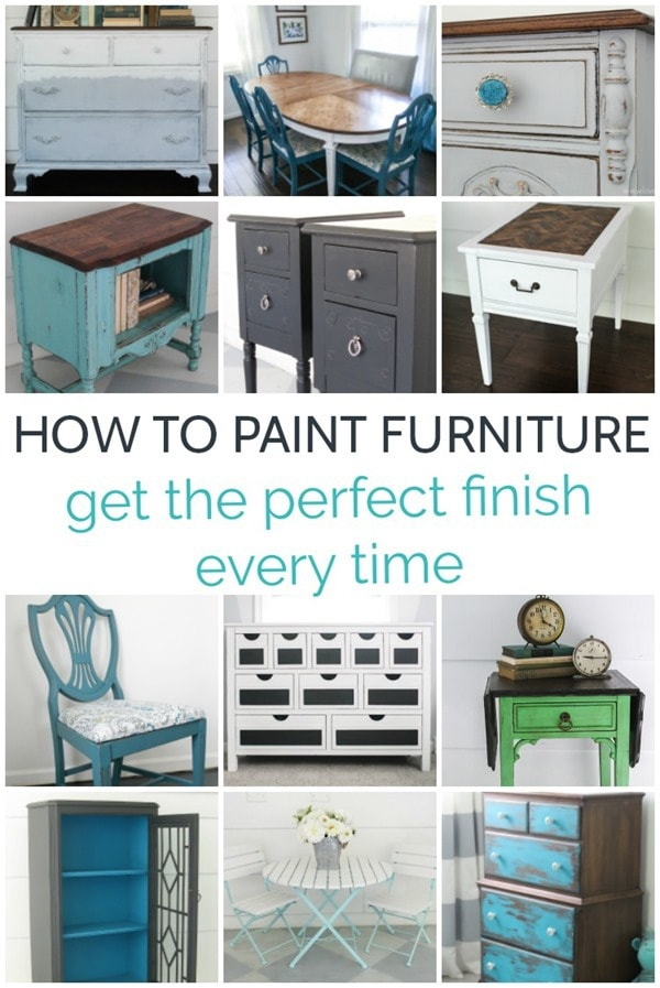 How To Paint Furniture For The Perfect Finish Every Time Lovely Etc