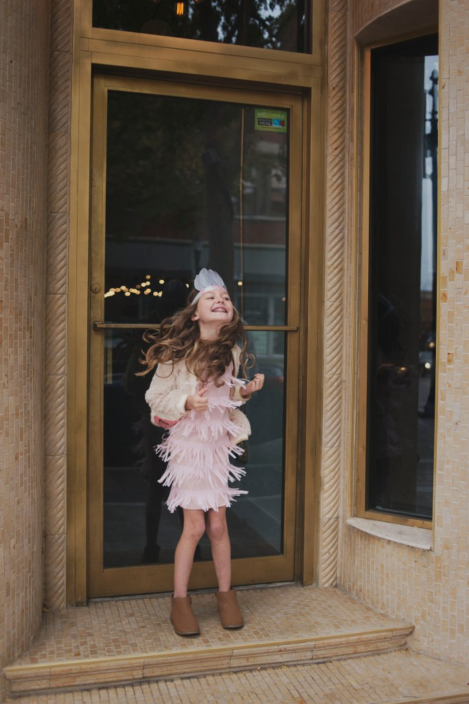 Kids Winter Fashion Pink Flapper Dress by Uuni