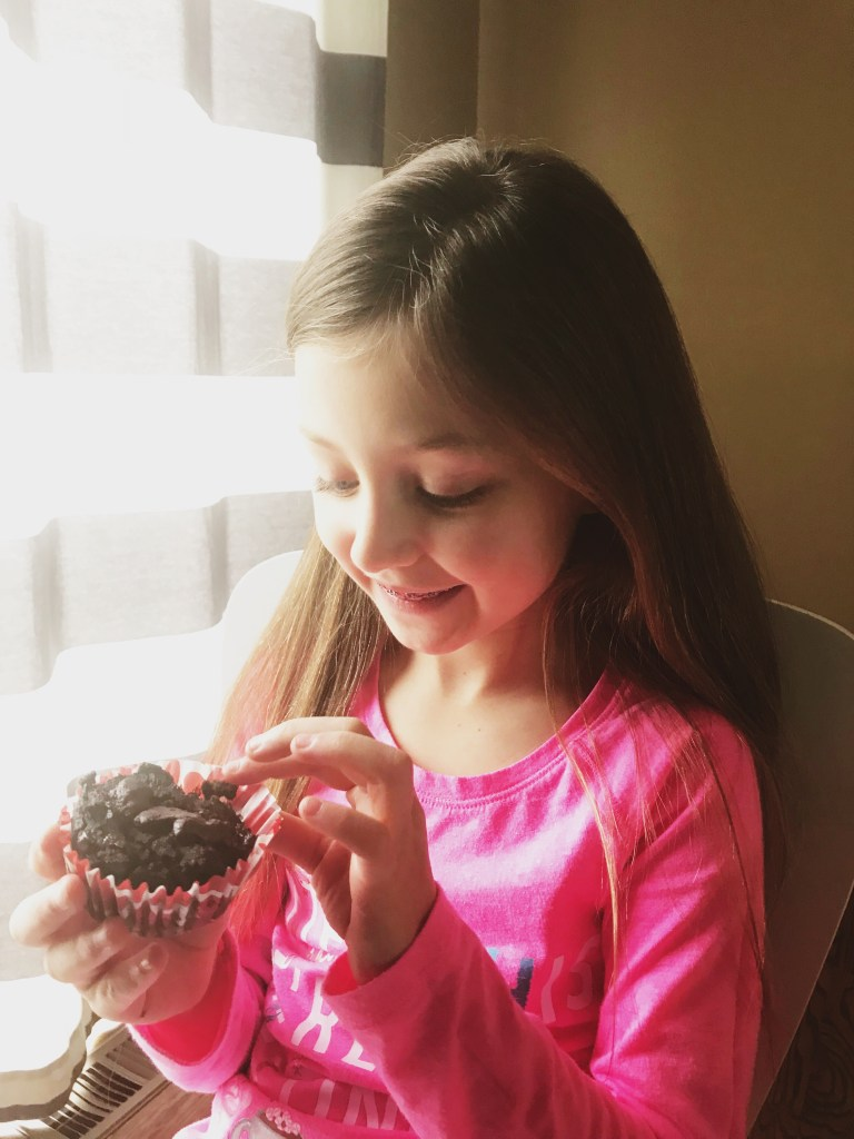 My daughter says these paleo chocolate muffins taste like brownies.