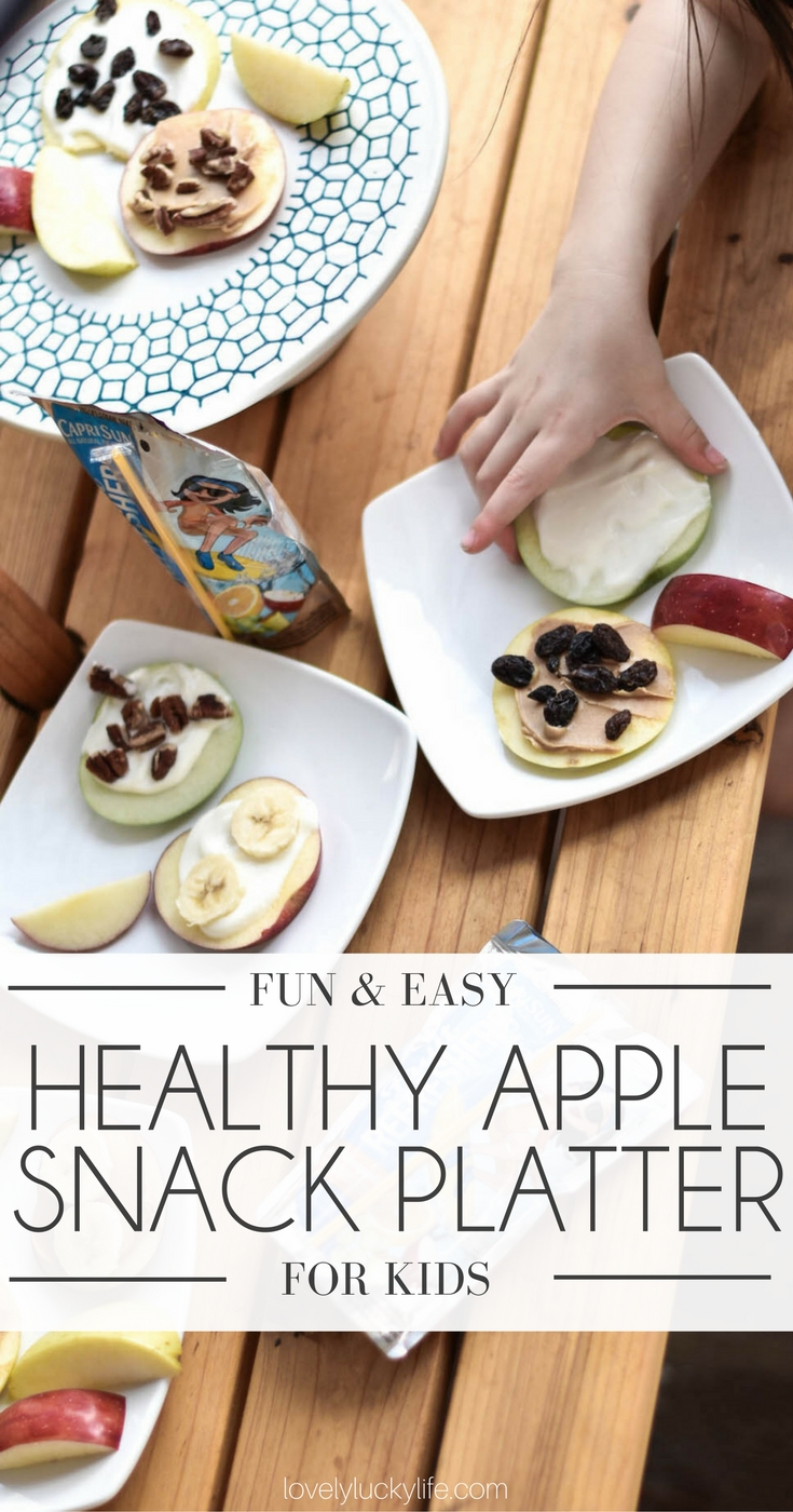 health apple snack platter for kids