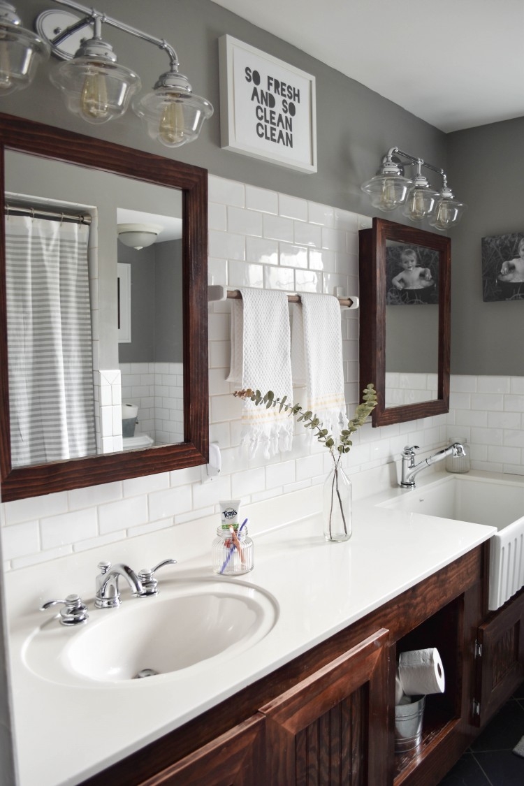 Kids Farmhouse Bathroom Reveal With Toms Of Maine Lovely Lucky Life