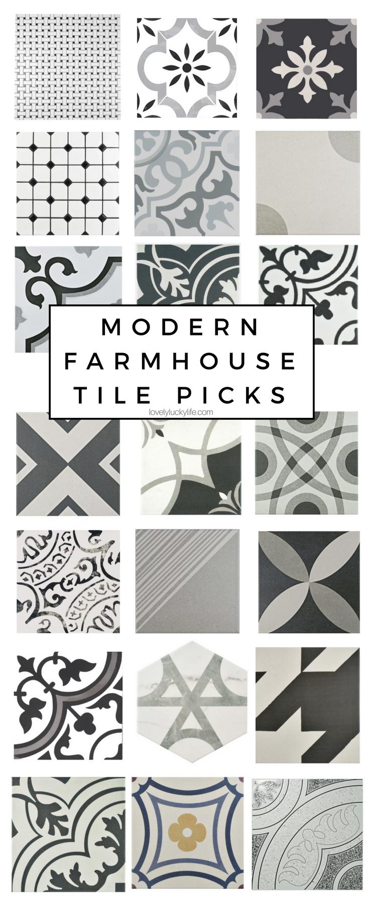 modern farmhouse tile options lovely