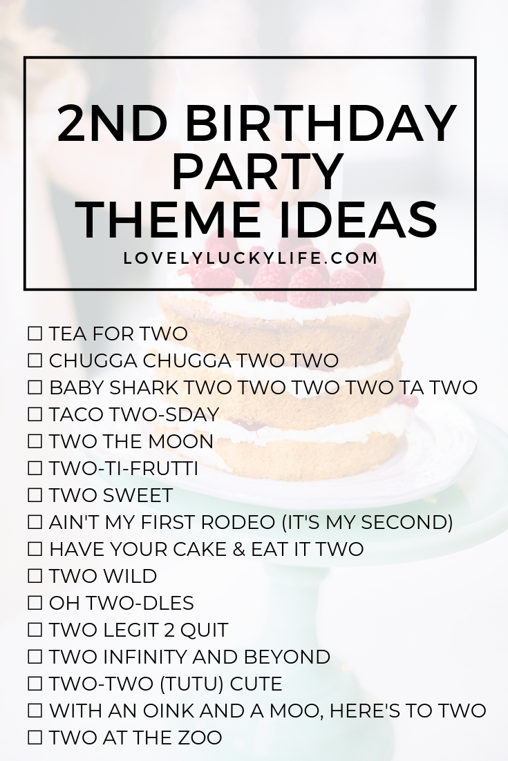 16 Adorable Clever Party Themes For 2nd Birthday Lovely Lucky Life