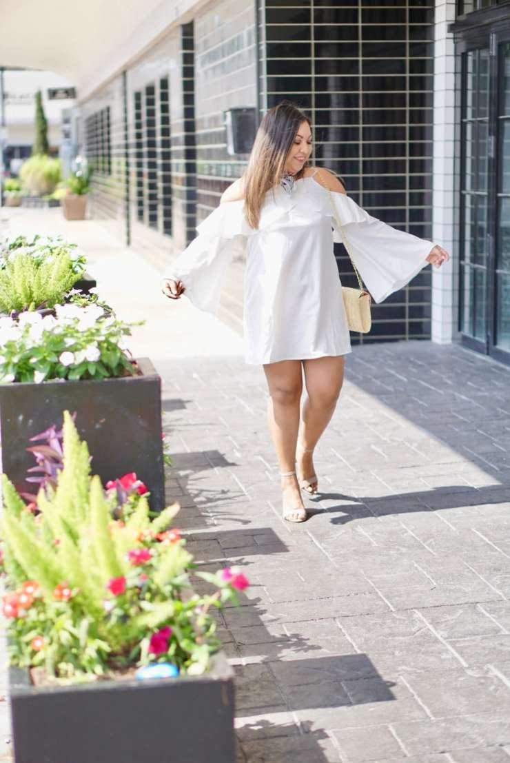 cold shoulder dress, white dress, summer trends 2017
