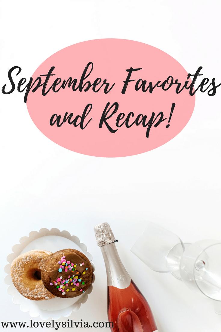 september favorites, september recap, monthly favorites, monthly recap
