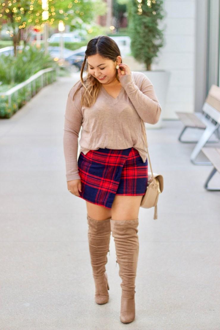 plaid skirts, plaid for fall, plaid, styling plaid skirts, plaid skirt outfit, wearing plaid for fall, plaid for winter, plaid skirts for fall