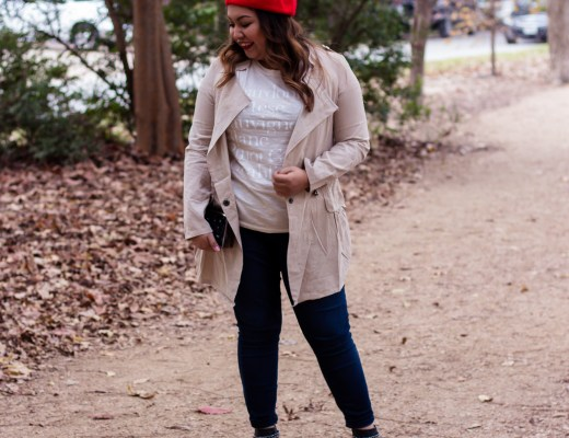 zaful, zaful review. zaful haul, red beret, tan coat, black booties, parisian look, how to wear a beret, cute tan coat, cute fall outfit