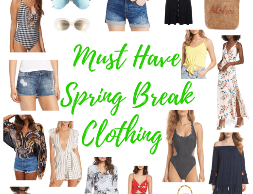 spring break, packing for spring break, clothing for spring break, must haves for spring break, beach clothing, swimsuits, dresses, straw bag, beach dresses, beach sandals, swimsuits 2018, vacation clothing, what to wear for vacation, what to wear to the beach,