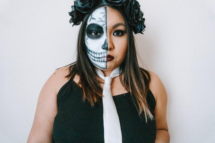 Lovelysilvia Half Skeleton Makeup Costume Lovely Silvia