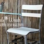 Vintage School Desk Makeover, www.lovelyweeds