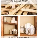 Bathroom Shelf From Scrap Wood