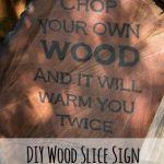 DIY wood slice sign, www.lovelyweeds.com