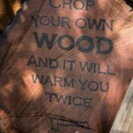 DIY Wood Slice Sign, with a Henry Ford quote | www.lovelyweeds.com